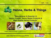 Henna Products By Henna, Herbs And Things New Delhi