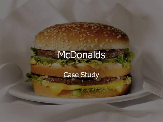 mcdonalds case study analysis paper