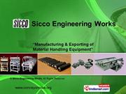 Roller Conveyors By Sicco Engineering Works Chennai