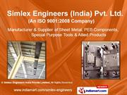 Sheet Metal Parts By Simlex Engineers India Private Limited Noida