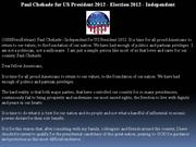 paul chehade for us president 2012 - election 2012 - independent