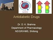 Nursing Pharmacology - Antidiabetic drugs - drdhriti