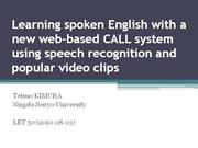 Learning spoken English with a new web-based CALL(R)