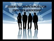 ESSENTIAL COMPETENCIES FOR EFFECTIVE LEADERSHIP