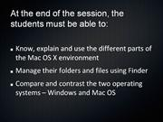 Introduction to the MAC OS X