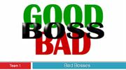 Good & Bad Bosses
