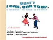 U7 Lesson 3 - Imperatives