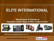 Leather Card Holders And Bag Tags By Elite International, Mumbai
