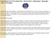 paul chehade for us president 2012 - election 2012 - independent - bio