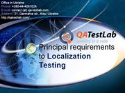 principal requirements to localization testing
