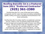 Roofing Danville CA: (925) 361-2380