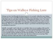 tips on walleye fishing lure