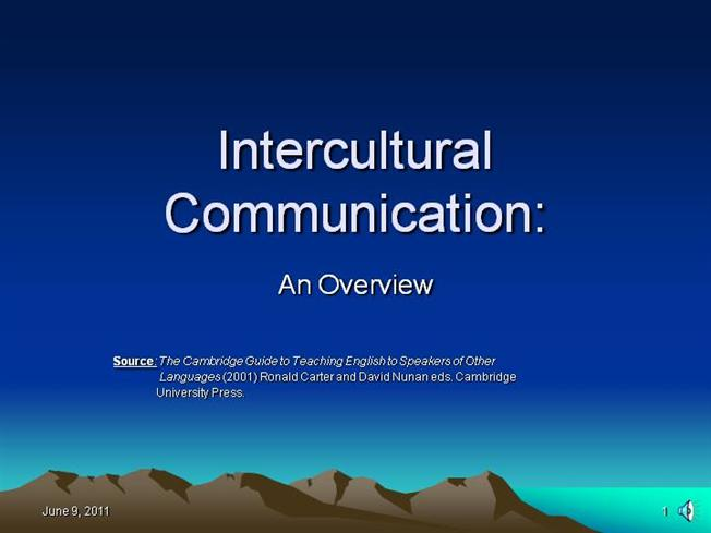 INTERCULTURAL COMMUNICATION |authorSTREAM