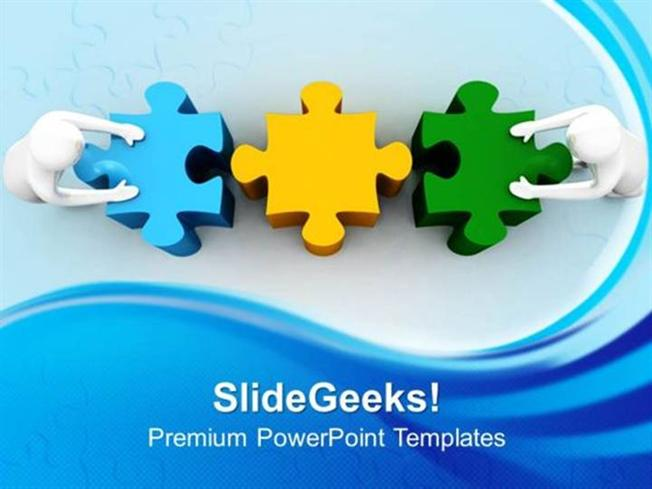 people 3d man with puzzle teamwork ppt template 1-powerpoint template, Powerpoint templates