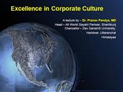 Excellence in Corporate Culture