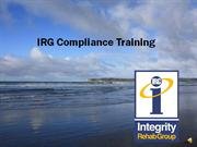 Compliance Training 2011 - revised