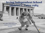 irving independent school district v tatro