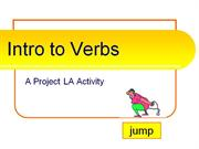 Intro to Verbs