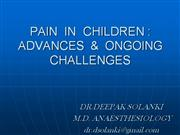 PAIN IN CHILDREN