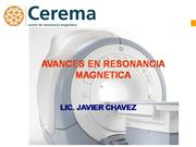 Avances en Resonancia Magnetica