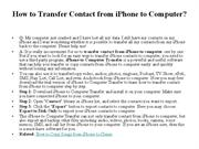 How to Transfer Contact from iPhone to Computer
