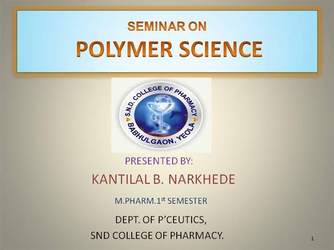polymer science ppt authorstream