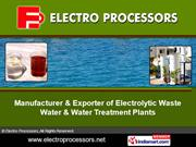 Cooling Tower Water Systems By Electro Processors Pune