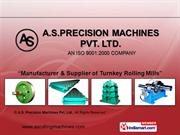 Forged Rolls By A.S. Precision Machines Pvt. Ltd. Mandi Gobindgarh