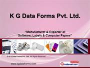 Labels & Tags By K G Data Forms Pvt. Ltd. New Delhi