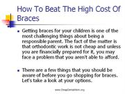 How To Beat The High Cost Of Braces