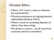 Week 2 529 Christian Ethics and the Kingdom
