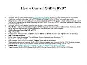 How to Convert XviD to DVD