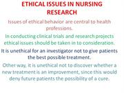 Ethical Issues in Nursing research