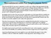 Recuirment with Employment test