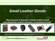 Leather Cufflinks By Small Leather Goods (An Unit Of X L Enterprises