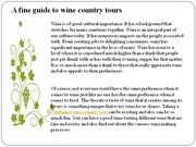 a fine guide to wine country tours