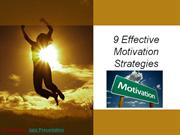 9 Effective Motivation Strategies