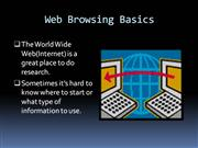 web browsing basics