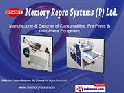 Pre Press Equipment By Memory Repro Systems (P) Limited New Delhi