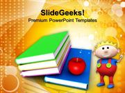 FOOD BOOKS AND APPLE CHILDREN PPT TEMPLATE