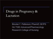 Drugs in Pregnancy Lactation