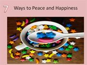 & ways to peace and happiness