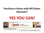 Purchase a Home with NO Down Payment
