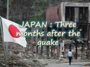 JAPAN-Three months after the quake