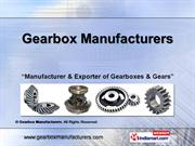 Gearbox By Material By Gearbox Manufacturers Noida