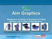 Paper Folder Machine By Aim Graphics Machines Pvt Ltd. Faridabad