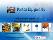 Flameproof Goods Lifts/Cage Lifts By Parson Equipments Mumbai