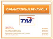 organizational behaviour in TM