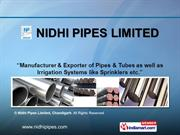 Collared/Shouldered End Steel Pipes  Od Series Pipes By Nidhi Pipes