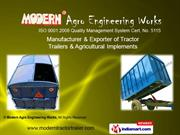 Four Wheel Trailer By Modern Agro Engineering Works Karnal
